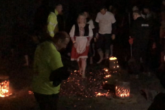 Fire walk for Charity
